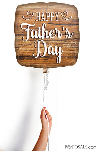 Rustic Wood Happy Father's Day Mylar Balloon