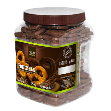 Pretzels con Chocolate 750 g