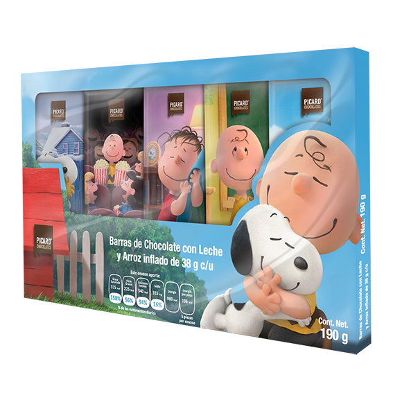 Barra de Charlie Brown y Snoopy 190g