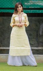 Yellow Kurtha Sharara Set