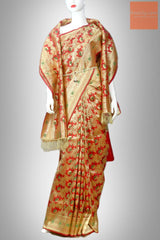 Red Bridal Banarasi Silk Saree