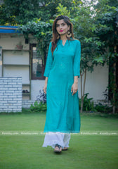 Teal Kurtha Garara Set
