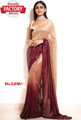 Multi-shaded Sequence Saree