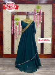 Designer Georgette Gown with Concept Dupatta