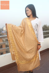 Golden Pashmina Shawl