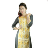 Jenifry Yellow and ash kurthi top