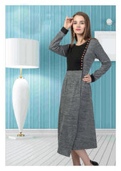 Grey and Black woollen kurti
