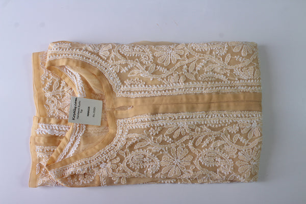 Cream colored lucknowi chikankari top