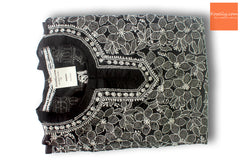 Black lucknowi chikankari top