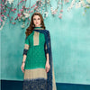 Teal And Navy Blue Kurtha Suruwal Piece