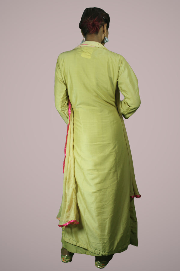 Golden Kurtha with inner gown