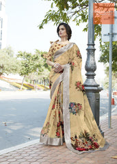 Printed tissue silk saree