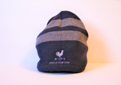Striped Knit Fleece Lined Hat