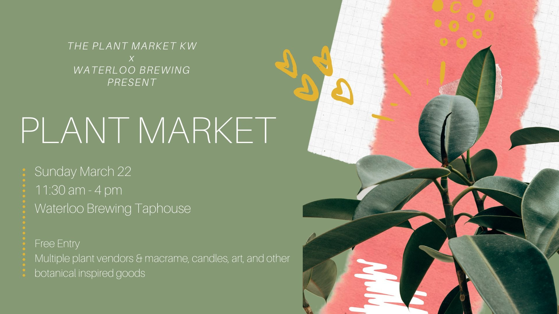 Plant Market at Waterloo Brewing