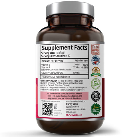 COQ10 Supplement, COQ10 Softgels