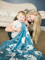 Coastal Blue Elephant Blankets