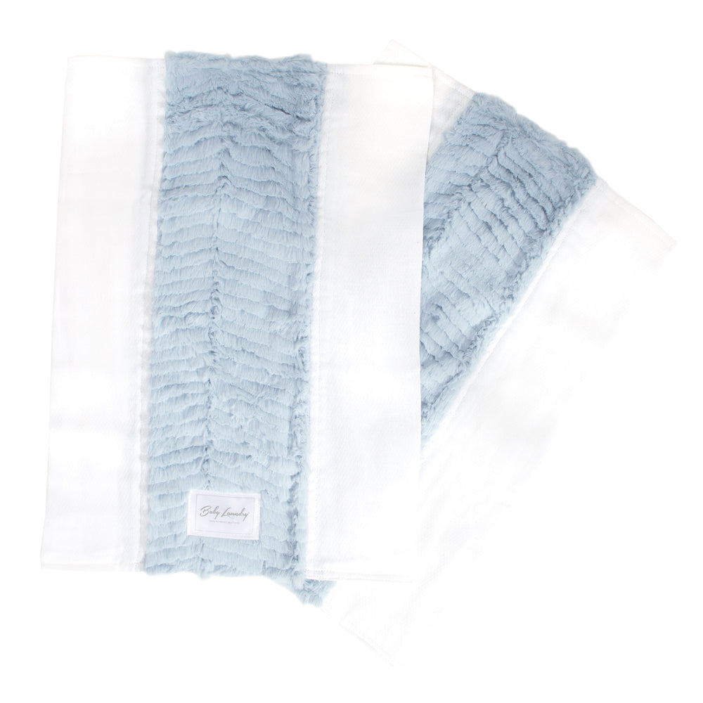 Glacier Blue Herringbone Burpie Set