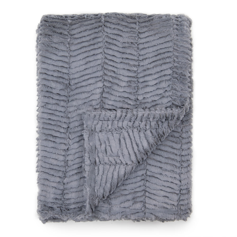Dark Grey Herringbone Blankets