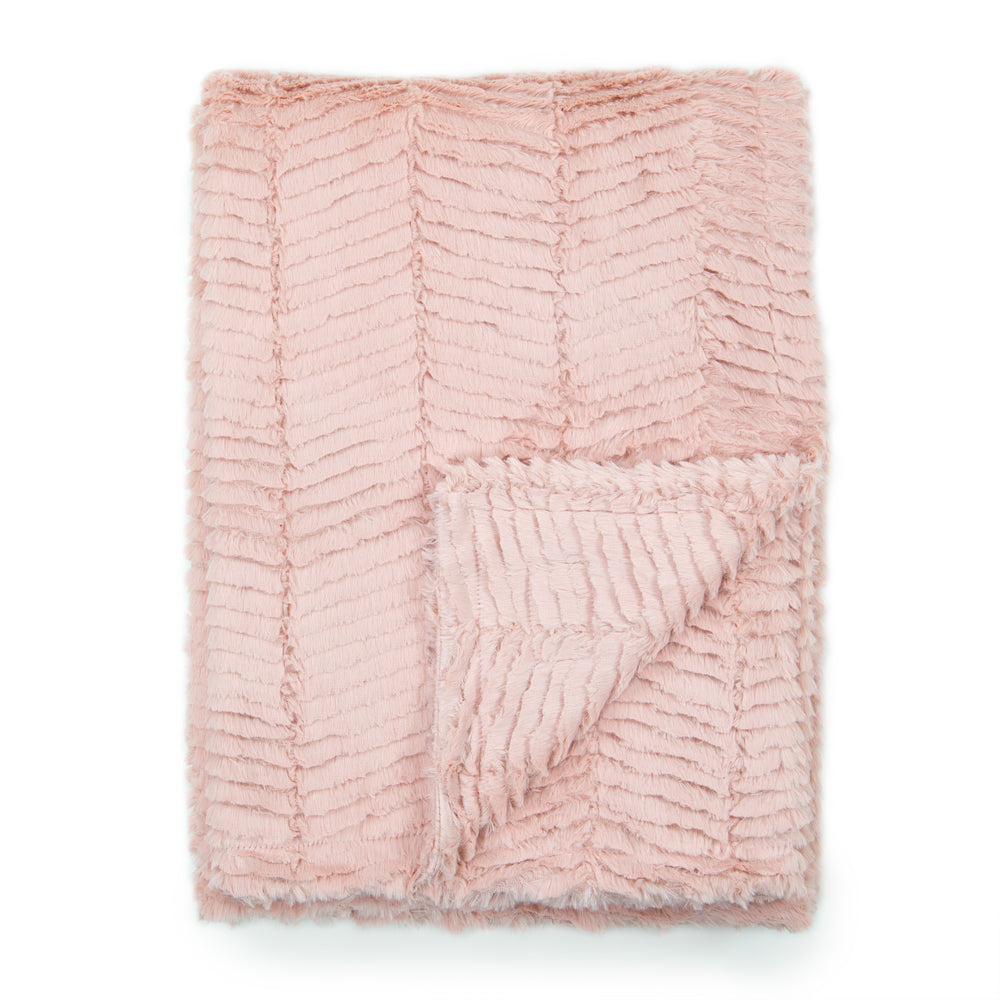 Dusty Pink Herringbone Blankets