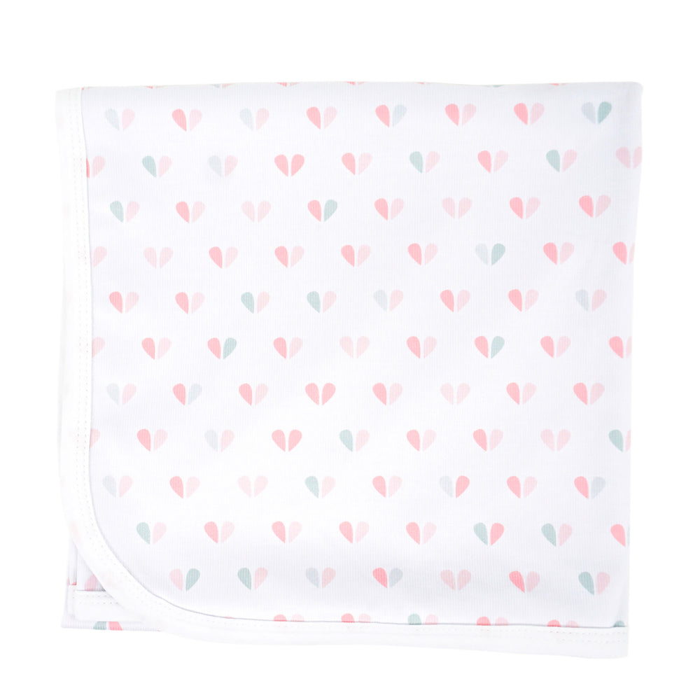 Blushing Hearts Knit Swaddle