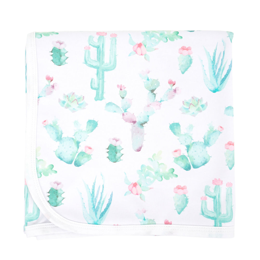 Cactus Bloom Knit Swaddle