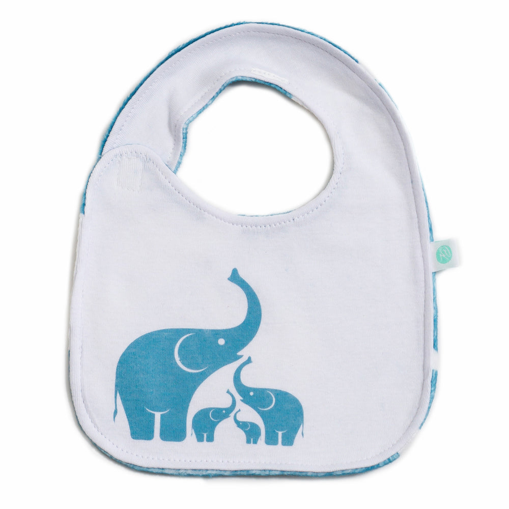 Coastal Blue Elephant Bib