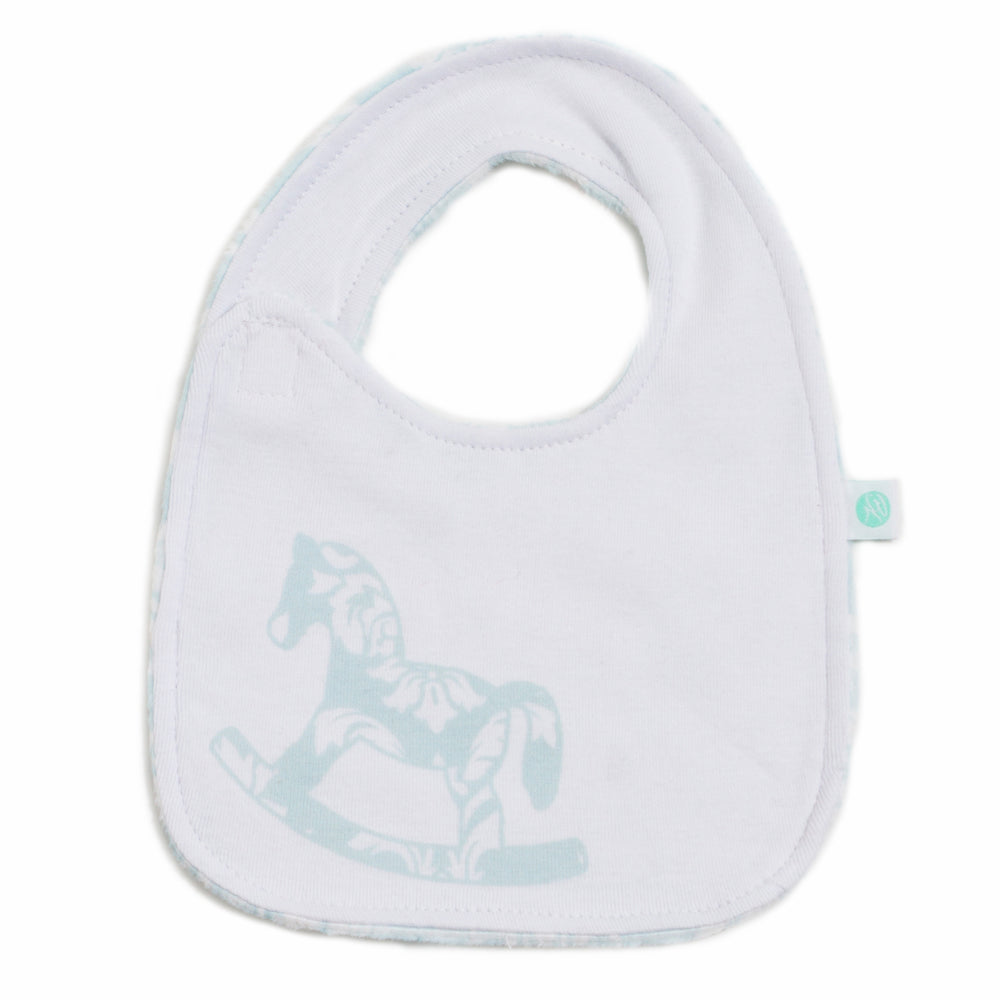 Crystal Blue Damask Bib