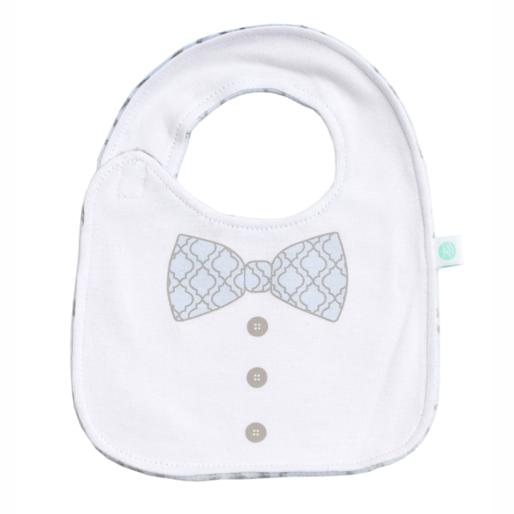 Blue Lattice Bib