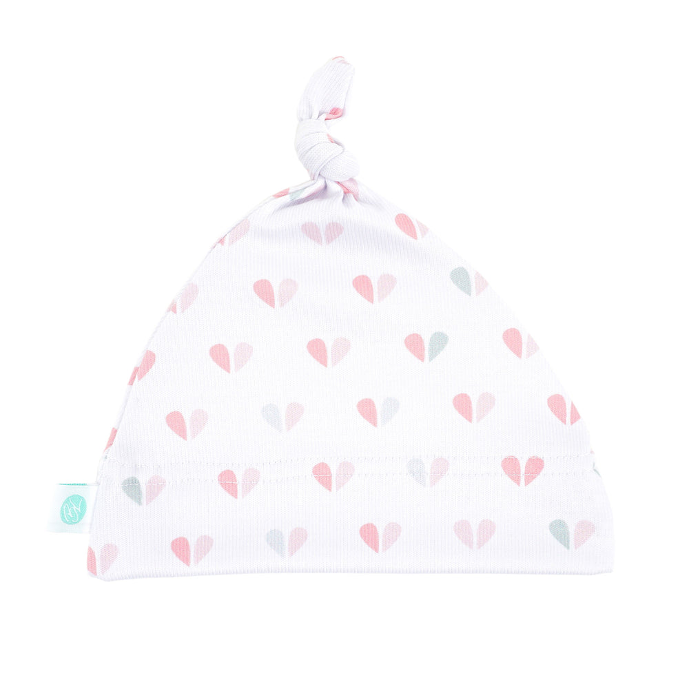 Blushing Hearts Knot Hat