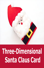 DIY Christmas Craft Ideas - Three-Dimensional Santa Claus Card
