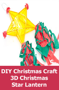 DIY Christmas Craft Ideas - Three-Dimensional Christmas Star