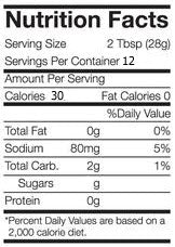 Traverse Bay Farms Nutritional Informatoin