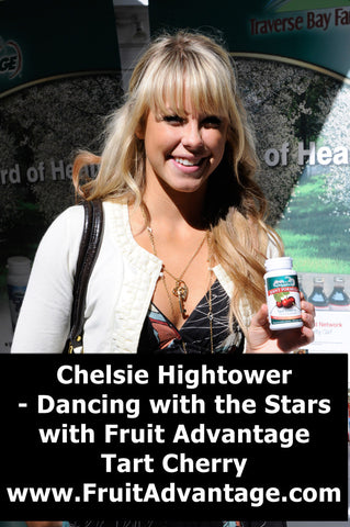Chelsea Hightower Dancing with the Stars with Fruit Advantage Joint Formula Tart Cherry