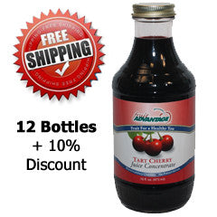 Fruit Advantage Tart Cherry Juice Concentrate - Buy 12 - Free Shipping Special - Save Over $17