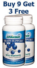Fruit Advantage Wild Blueberry Brain Support - Buy 9 - Get 3 Free