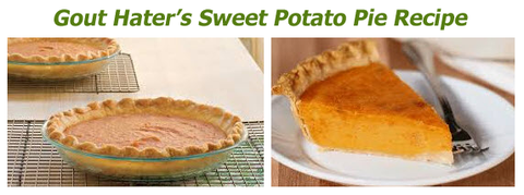Gout Hater's Sweet Potato Pie Recipe