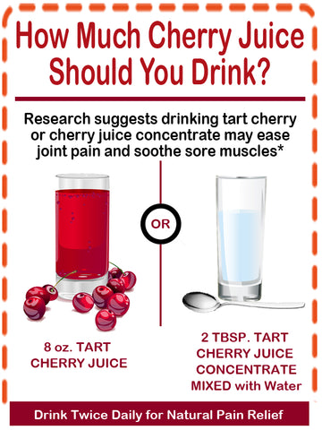 What is the dosage of tart cherry juice concentrate