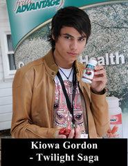 Kiowa Gordon with Fruit Advantage Tart Cherry Joint Formula Twilight Saga
