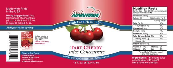 Fruit Advantage Montmorency Tart Cherry Juice Concentrate