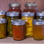 Homemade preserves and fruits
