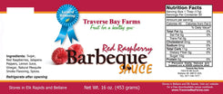 Red Raspberry BBQ Sauce - traversebayfarms
