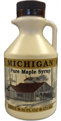 Pure Michigan Maple Syrup - 1 Bottle of 16 Fl. Oz.