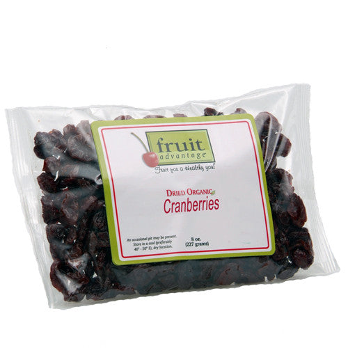 Dried Organic Cranberries - 8 oz bag - traversebayfarms