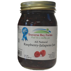 Red Raspberry Jalapeno Jam - traversebayfarms