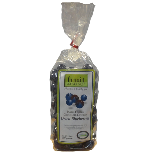 Pastel Coated Chocolate Covered Dried Blueberries - traversebayfarms