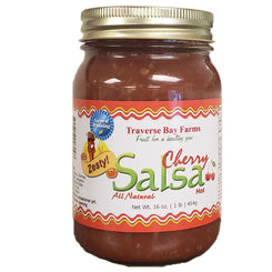 Cherry Salsa - Zesty (Spicy But Not Hot) - traversebayfarms