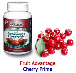 Fruit Advantage Cherry Prime Montmorency Tart Cherry Extract with Glucosamine & Chondroitin - 90 Capsules - traversebayfarms