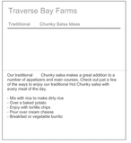 All Natural Homestyle Medium Chunky Salsa - traversebayfarms
