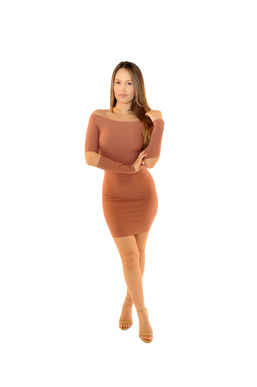 Bella Slit Sleeve Mini - Desired Clothing