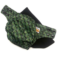 Green Dragon Scales PUL Cloth Diaper